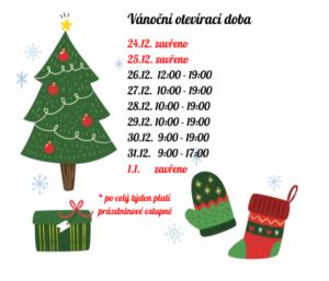 Otevírací doba - Vánoce 2017